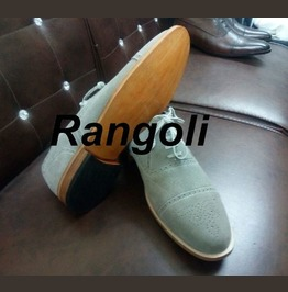 Handmade Men Brogue Gray Color Shoes, Men Gray Suede Formal Shoes, Men Shoe