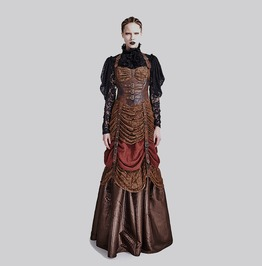 Gorgeous Ruched Ball Gown Full Length Evening Punk Dress