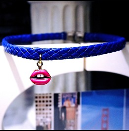 Submissive Bdsm Collar Boho Chic Necklace Choker Hippie Psychedelic Jewelry