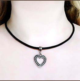 Submissive Collar Bdsm Jewelry Heart Necklace Anniversary Gift Pendant Sub