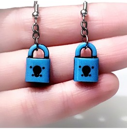 Bdsm Earrings Key Lock Dominant Submissive Anniversary Gift For Women Slave