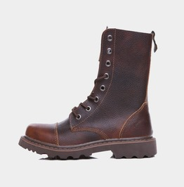 Brown/Black Mens Military Cowboy Worker Boots Genuine Leather Martin Boots