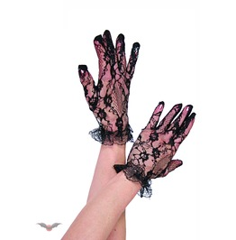 Wrist Black Lace Gloves