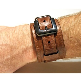 Genuine Leather Bracelet, Brown Leather Bracelet, Men Bracelet/