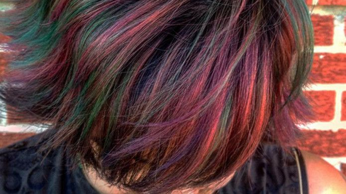 10 best examples of the oilslick hair color trend