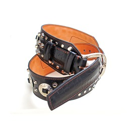 Black Studded Leather Belt, Rock'n'roll Belt, Studded Belt
