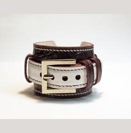 Women Leather Bracelet, Genuine Leather Bracelet, Bordeaux Leather Bracelet