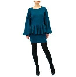 """Pm"" Set Long Sleeve Dress Peplum Dress Evening Dress"