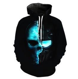 3 D Cool Skull Pullover Hoodie