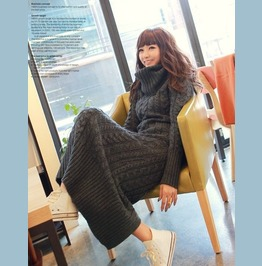 Oversize Pullover Dress Jersey Wh050