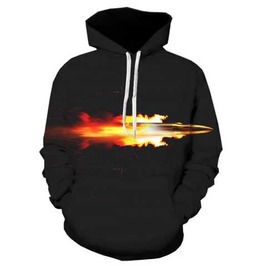 Men's Black Bullet Print Hooded Sweatshirt Rocker Hoodie $5 To Ship!
