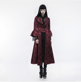 Punk Rave Women's Gothic Gorgeous Jacquard Slim Fitted Coat Y844
