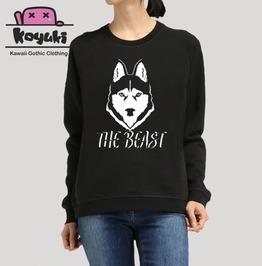 Wolf Sweatshirt The Beast Harajuku Streetwear