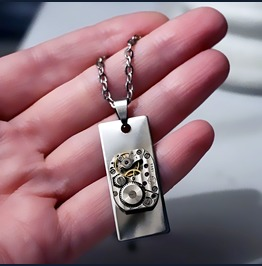 Steampunk Bdsm Jewelry Mens Pendant Dominant Man Necklace Gift For Him