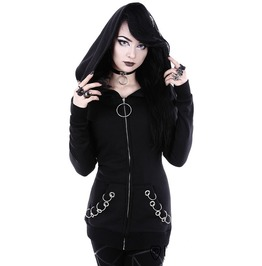 Gothic Punk Black Witch Women Hoodies Sweatshirt
