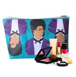 Purple Pop Star Makeup Bag Or Pot Pouch . Original Illustration