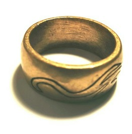 Cool Tribal Swirl Design Bronze Colour Metal Band Ring Us Size 9.5