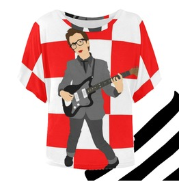 Elvis Costello Batwing Tee . Original Illustration