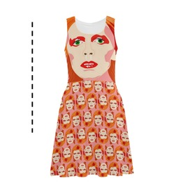 Bowie Fit And Flare Dress . Original Illustration