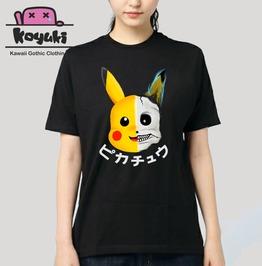 Pikachu Pika Death Gothic Harajuku Anime Horror Kawaii Creepy