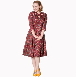 Banned Apparel Autumn Leaves Dress