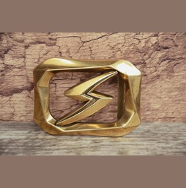 3 D Buckle Solid Metal Alloy Brass Color