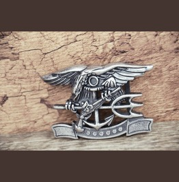 3 D Solid Metal Alloy Buckle Eagle Anchor Antique Silver Color