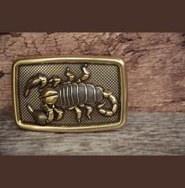 3 D Scorpion Buckle Solid Metal Alloy Vintage Gold Color