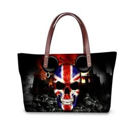 Top Handle Satchel Handbags Shoulder Bag Messenger Tote Purse Skull Print