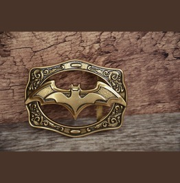 Solid Metal Alloy Buckle The Bat Brass Color