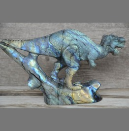 Carved Gemstone Labradorite Dinosaur Home Decor 3 D Tyrannosaurus Rex