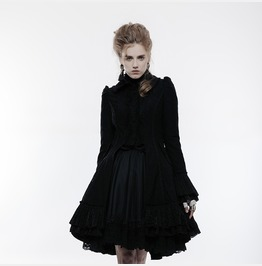 Women's Lolita Hollow Out Lace Bowknot Ruffles Coat Ly067