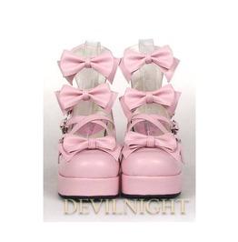 Pink Little Princess Sweet Lolita High Heel Shoes Del 0004