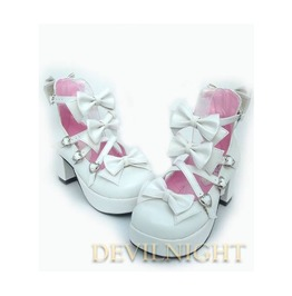 White Little Princess Sweet Lolita High Heel Shoes Del 0004