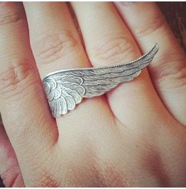 Gothic Guardian Angel Wing Ring