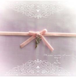 Skinny Choker Necklace Pink Velvet Bow And Gun Pendant Little Rebel Pastel
