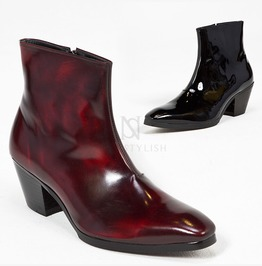 Plain Leather High Heel Ankle Boots 422