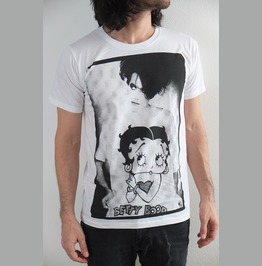 The Cure Robert Smith Betty Boop Goth Fashion T Shirt Unisex M