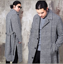 Hound Pattern Single Long Coat 162