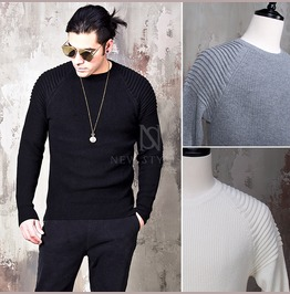 Pintuck Accent Slim Knit Sweater 56