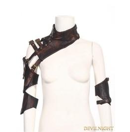 Brown Faux Leather Steampunk Shoulder Armour Sp 093