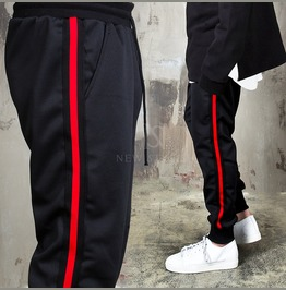 Long Side Tape Contrast Sweatpants 280