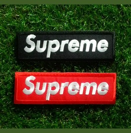 Set 2 Pcs. Supreme Embroidered Iron On Patch.
