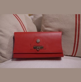 """Unique And One Of A Kind Leather Clutch Bag """"Lucy"""""""