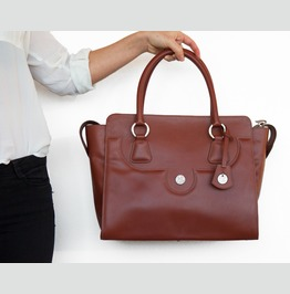 """Unique And One Of A Kind Leather Handbag/Briefcase """"Macy"""""""
