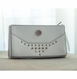 Unique And One Of A Kind Genuine Leather Hand Stitched Clutch Bag