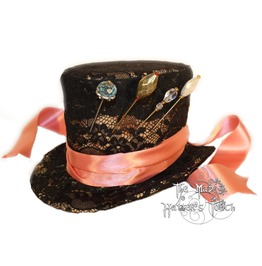 Mad Hatter Handmade Mini Top Hat