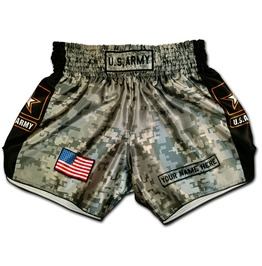 U S Army Boxing Trunks Digital Camouflage Military Muay Thai Shorts Usa