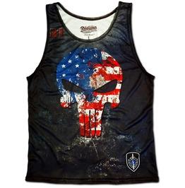 Dilligaf Badass Biker Skull Totenkopf Heavy Metal Punisher Tank Top Vest