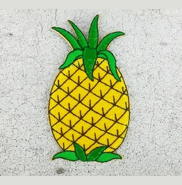 Pineapple Embroidered Iron On Patch.